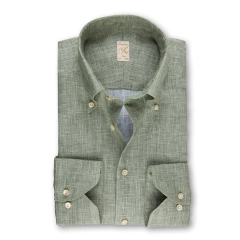 Light Green Linen 1899 Slim Shirt