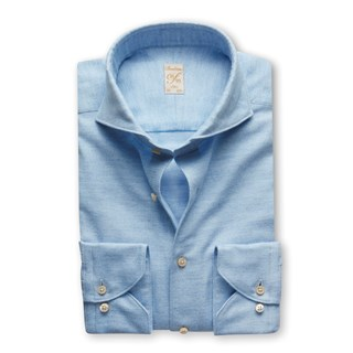 1899 Slim Shirt - Cotton Cashmere, Light Blue
