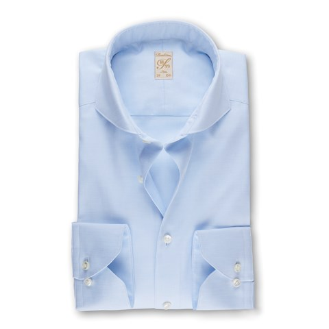 Light Blue Micro Patterned 1899 Slim Shirt
