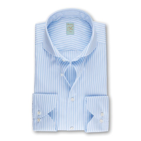 Light Blue Striped 1899 Slim Shirt