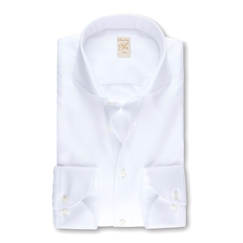 White Superior Twill 1899 Slim Shirt