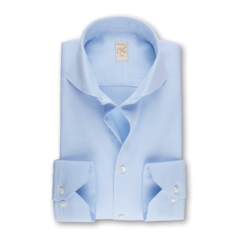 Light Blue Textured 1899 Slim Shirt