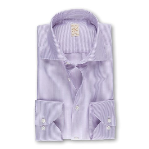 Purple Striped 1899 Slim Shirt
