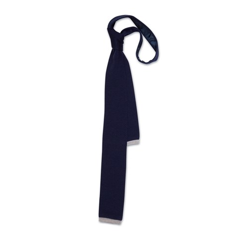 Knitted Tie In Navy
