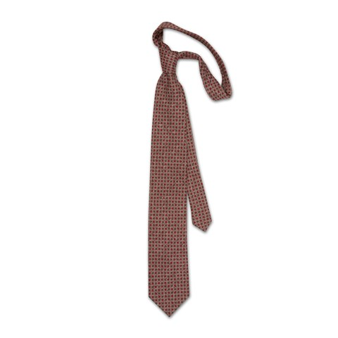 Brown dotted tie