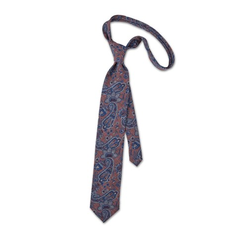 Wool tie with paisley pattern