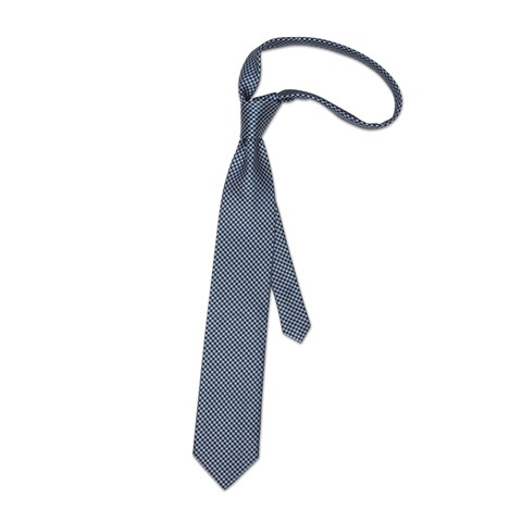 Silk tie with micro check pattern