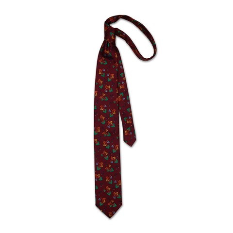 Rusty Red Floral Tie