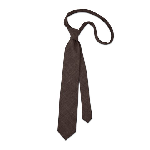 Brown wool tie