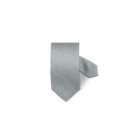 Light Grey Structured Silk Tie