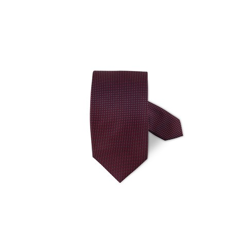 Red Micro Patterned Silk Tie