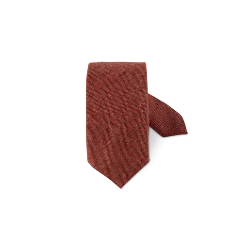 Orange Wool Tie