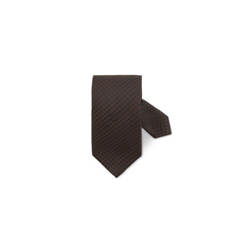 Brown Hounds Tooth Silk Tie