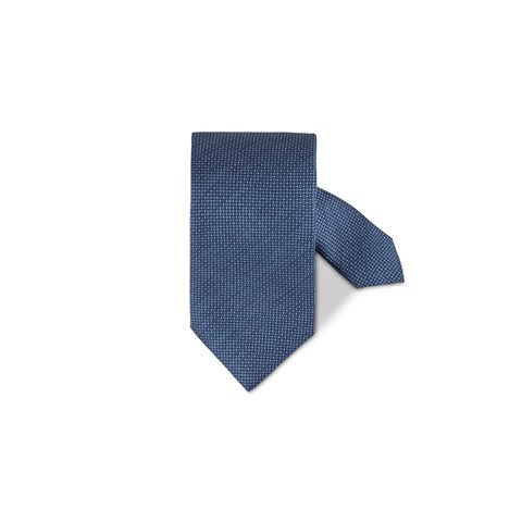 Blue Micro Patterned Silk Tie