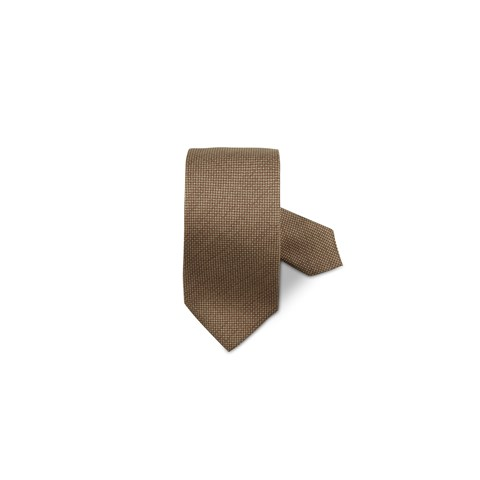 Brown Micro Patterned Silk Tie
