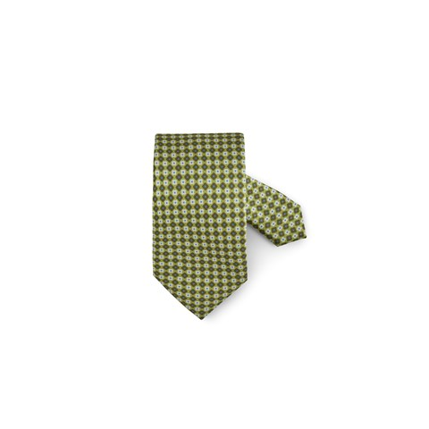 Light Green Floral Silk Tie