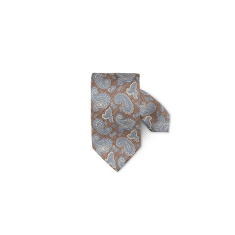 Brown Paisley Silk Tie