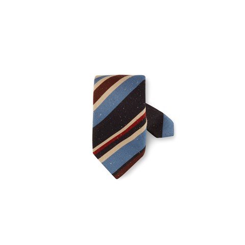 Multicolor Stripe Speckle Tie