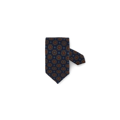 Navy Kaleidoscope Wool Tie