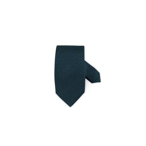 Graphic Patterned Silk Tie