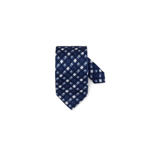 Blurred Checked Silk Tie