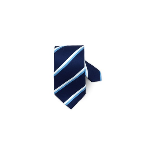 Navy Striped Silk Tie