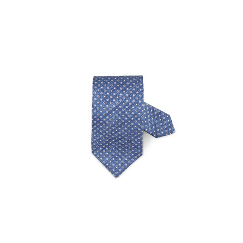 Blue Dotted Silk Tie