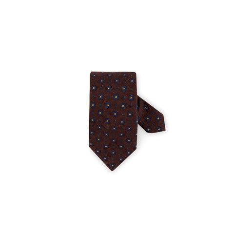 Textured Silk Tie Brown