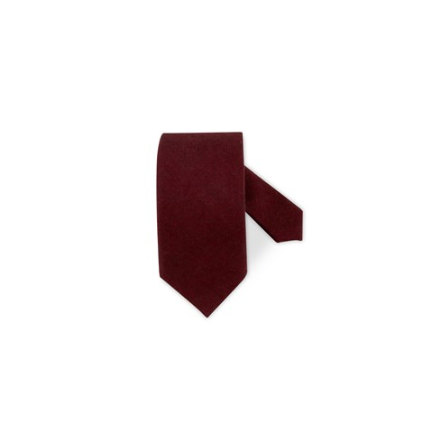 Red Textured Wool Tie