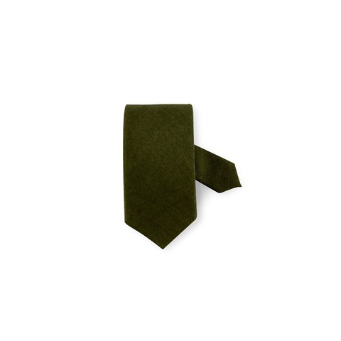Green Textured Wool Tie