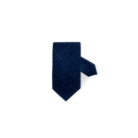 Blue Textured Wool Tie