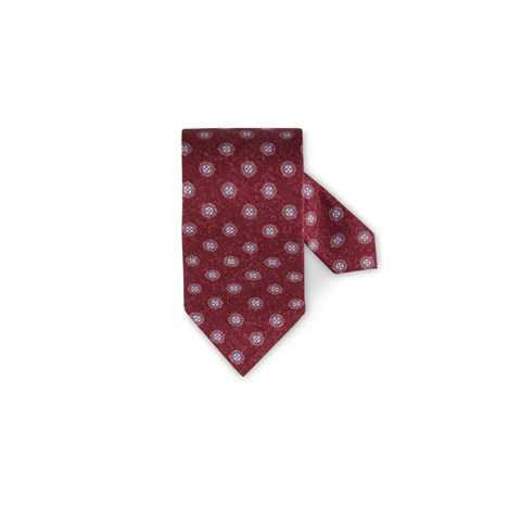 Medallion Silk Tie Red