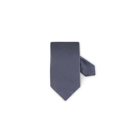 Patterned Silk Tie Grey