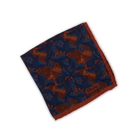 Leaf  Patterned Wool Hankie