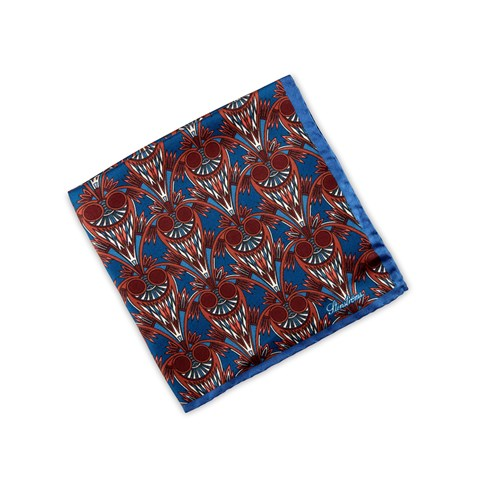 Abstract Patterned Silk Hankie
