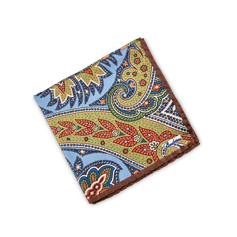 Floral Patterned Silk Hankie