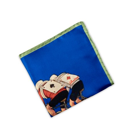 Bicycling Motif Hankie