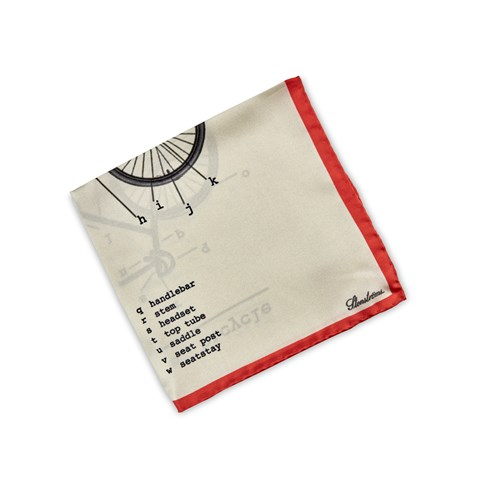 Bicycle Motif Silk Hankie