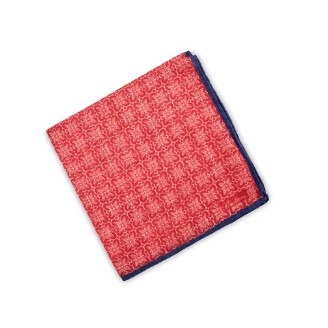 Red Geometric Patterned Hankie
