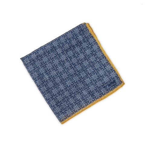 Blue Geometric Patterned Hankie
