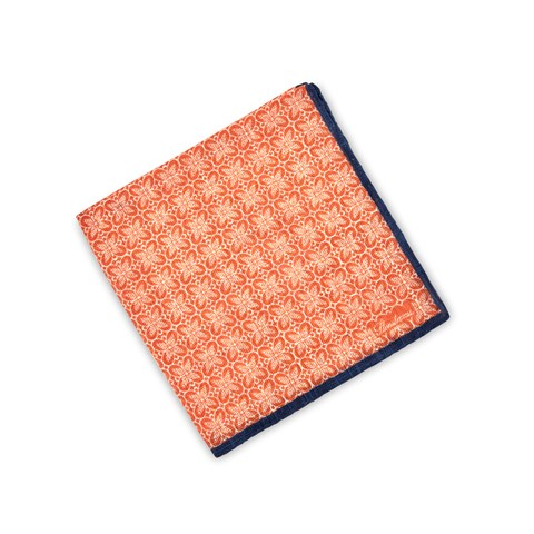 Orange Geometric Patterned Hankie