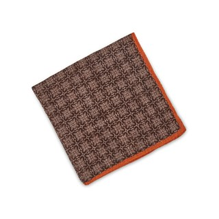 Brown Geometric Patterned Hankie