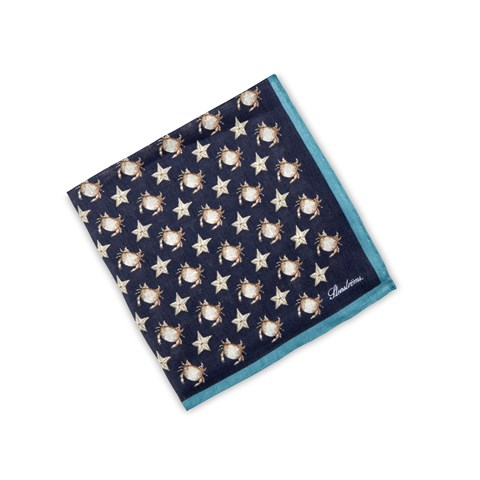 Sea Life Patterned Linen Hankie