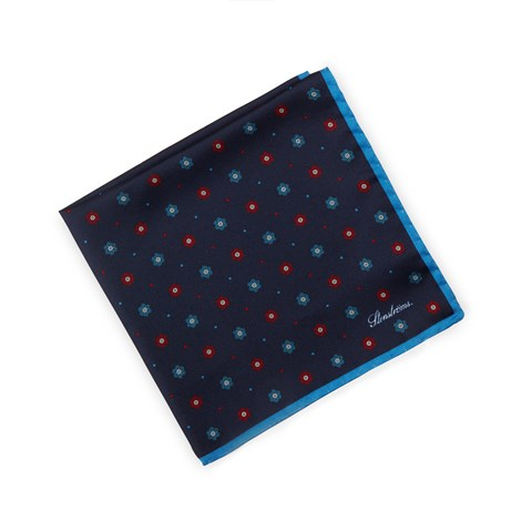 Navy Patterned Hankie