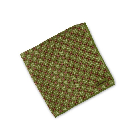Green Geometric Patterned Hankie