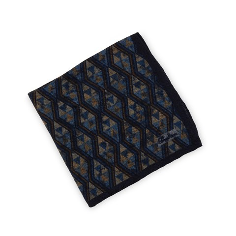 Graphic Wool Hankie, Reversible