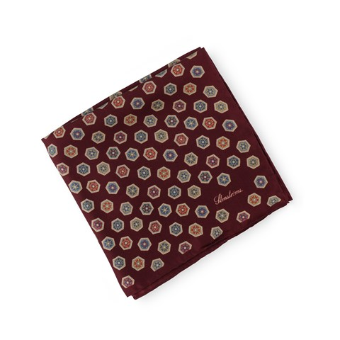 Silk Hankie Medallion Red