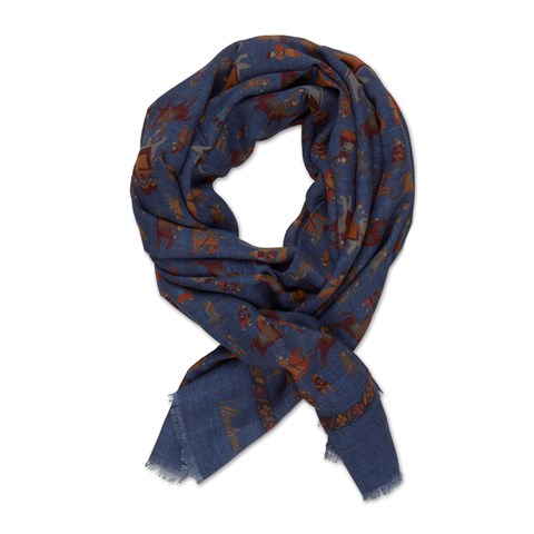 Motif Patterned Scarf