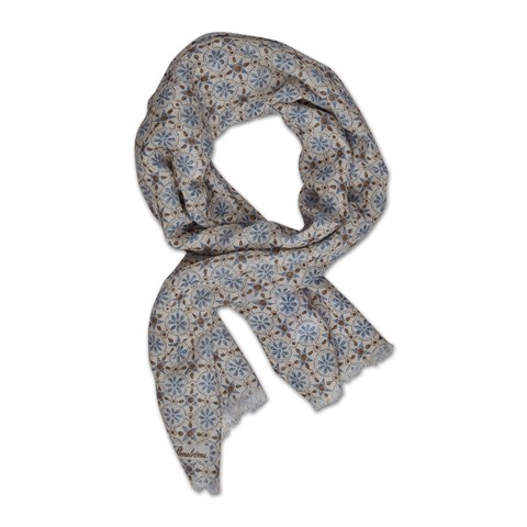 Off-white/Brown Geometric Scarf