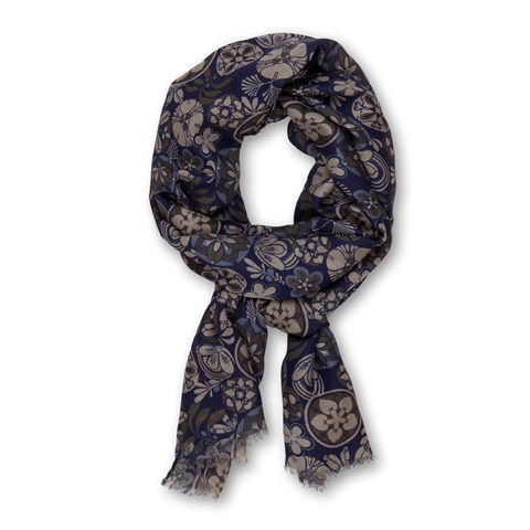 Blue Floral Scarf